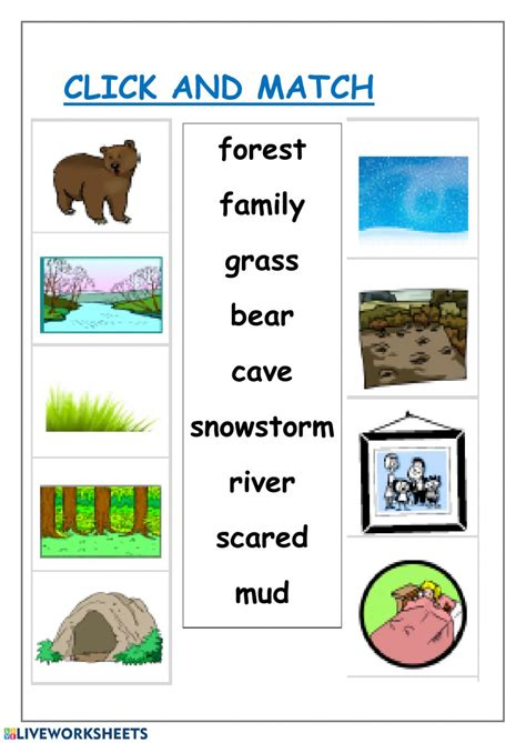 bear hunt worksheet
