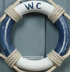 Maritime Deko Fürs Bad : holz rettungsring wc blau wei 14cm f r die maritime bad deko ~ Markanthonyermac.com Haus und Dekorationen