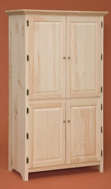 large kitchen pantry cabinet large pantry cabinet stark wood unfinished 6802