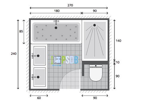 plan exemple plan de salle de bain de 6 5m2
