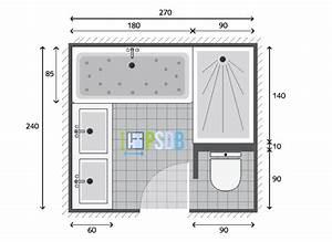 plan exemple plan de salle de bain de 65m2 With plan a carreler salle de bain