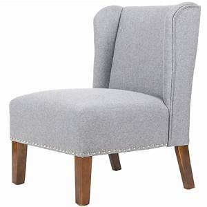 Merax, Stylish, Contemporary, Upholstered, Wingback, Accent, Chair