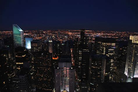 New York City Top Of The Rock 21 After Sunset East ...