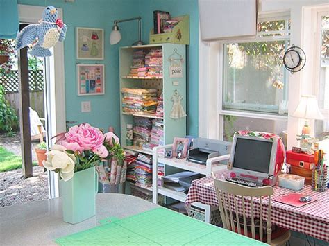 beautiful gorgeous sewing room design idea with