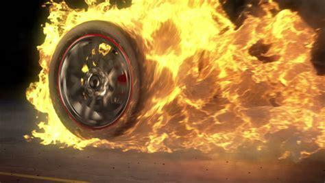 Stock Video Clip Of Tire Burnout On Asphalt, Creates Lots