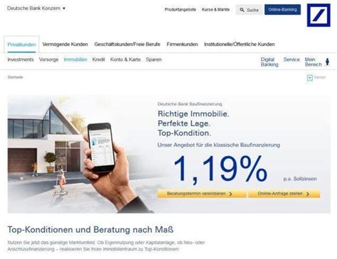 deutsche bank autokredit deutsche bank baufinanzierung test vergleich erfahrungen