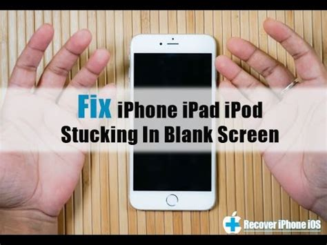 how to fix an iphone that got fix iphone ipod stuck on black screen get out of
