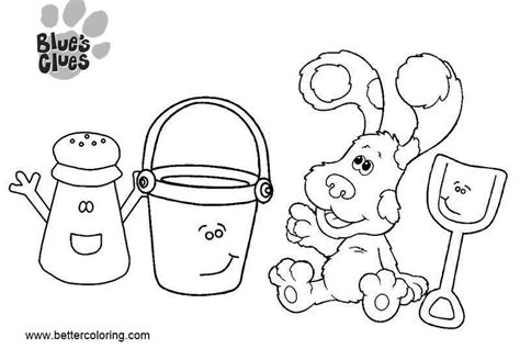 Blue's Clues Coloring Pages With Friends