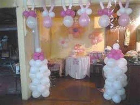 Decoracion De Baby Shower En Casa - decoraci 243 n con globos para baby shower