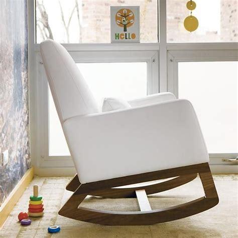 nursery rockers white leather monte design joya rocker in