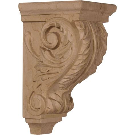 Walnut Corbels by Ekena Millwork 4 In X 3 1 2 In X 7 In Unfinished Wood