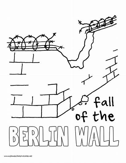 Coloring Pages Berlin Wall Volume Timeline History