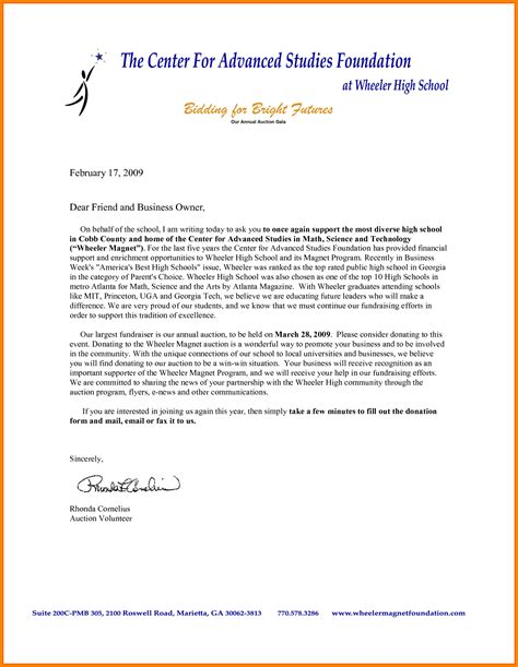 Donation Letter Template For Schools by 7 Donation Letter Template For Schools Instinctual