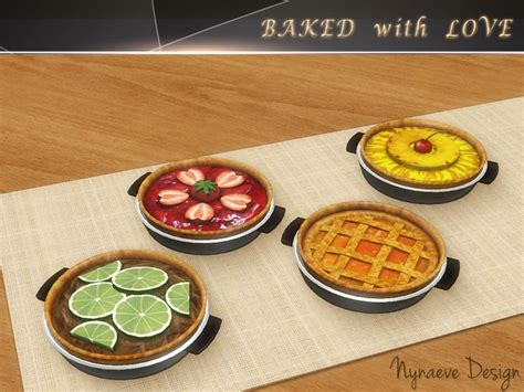 cuisine sims 3 nynaevedesign 39 s baked with decor food