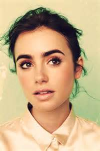Bold Lily Collins Eyebrows