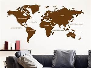 Wandtattoo Weltkarte Uhr : wandtattoo weltkarte von klebeheld de ~ Sanjose-hotels-ca.com Haus und Dekorationen