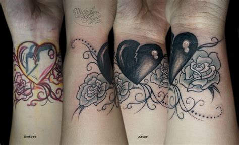 Heart Finger Tattoo Cover Up
