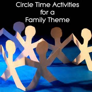 preschool circle time ideas on a family theme