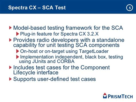 sca test automating software communications architecture sca