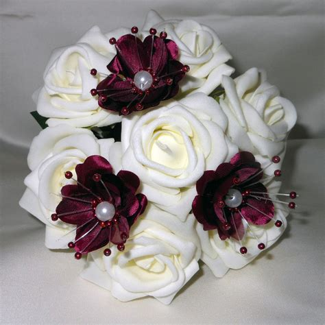bridal flowers flowergirl posy wedding bouquet ivory