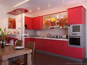 pictures of kitchens modern red kitchen cabinets With kitchen cabinet trends 2018 combined with small printed stickers
