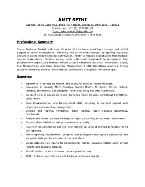 2 years experience business analyst resume senior business analyst with 10 years of experience providing th