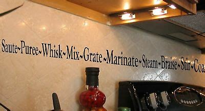 kitchen border cooking quote vinyl wall lettering decal ebay