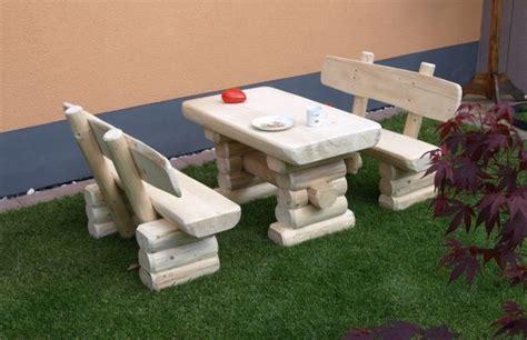 Kinder Gartenmöbel by Rustikale Kinder Bank Tisch Garnitur Aus Massivem Holz
