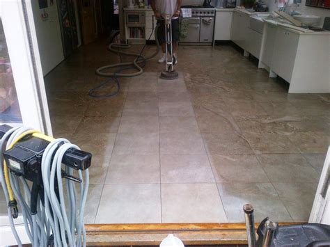 cleaning micro porous textured porcelain tiles in a