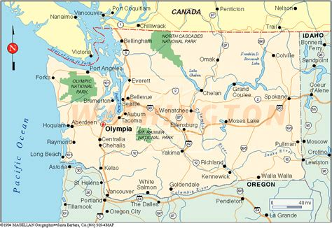 map  washington america maps map pictures