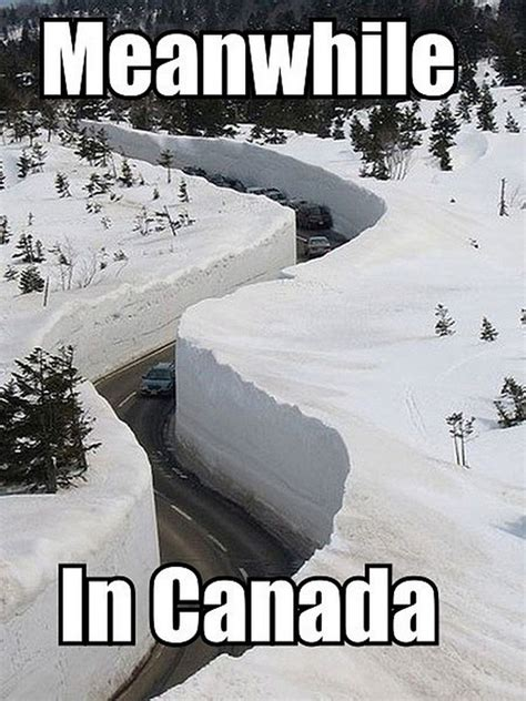 Canada Snow Meme - funny meanwhile in canada snow