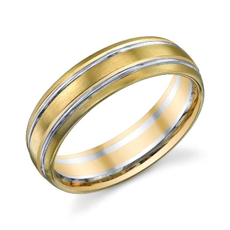 273011 christian bauer 14 karat two tone wedding ring