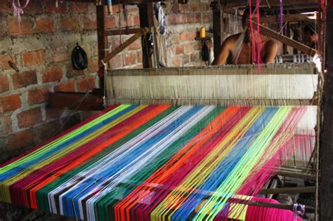 city  colorful textiles san sebastian el salvador