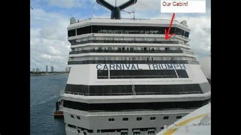 Carnival Conquest Deck Plans Side View by Carnival Cruise Ship Triumph Aft View Extended Balcony