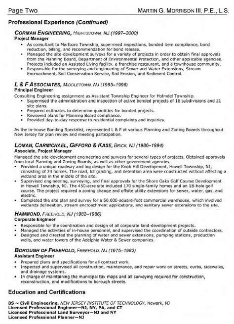 industrial engineer sle resume 17 images high school