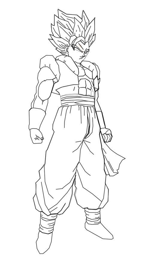 Super Vegito And Gogito In Gotenks In Goku And Vegit Free Coloring