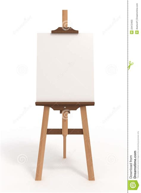 Blank Art Board, Easel, With Clipping Path Stock Photos   Image: 23472403