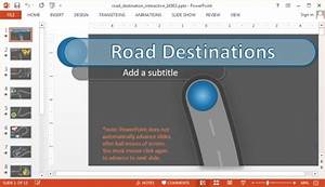 interactive road powerpoint template with animated timeline With free interactive powerpoint presentation templates
