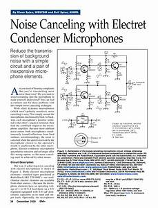 Noise Canceling With Electret Condenser Microphones