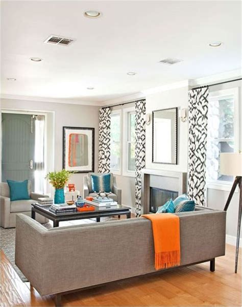 Living Room Color Schemes With Turquoise by Decorating With Orange Living Room Things Living