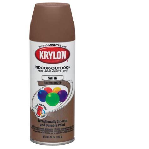 shop krylon 12 oz brown boots satin spray paint at lowes