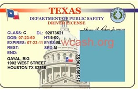 state id card psd template images texas drivers