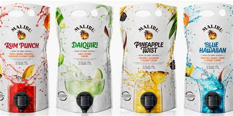 Malibu is a coconut flavored liqueur, made with caribbean rum, and possessing an alcohol content by volume of 21.0 % (42 proof). Malibu's Mixed Drink Pouches Will Be a Hit at Every Single ...