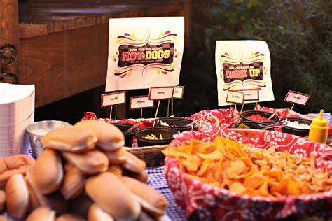 Hot Dog Bar Party Decorations Pictures To Pin On Pinterest