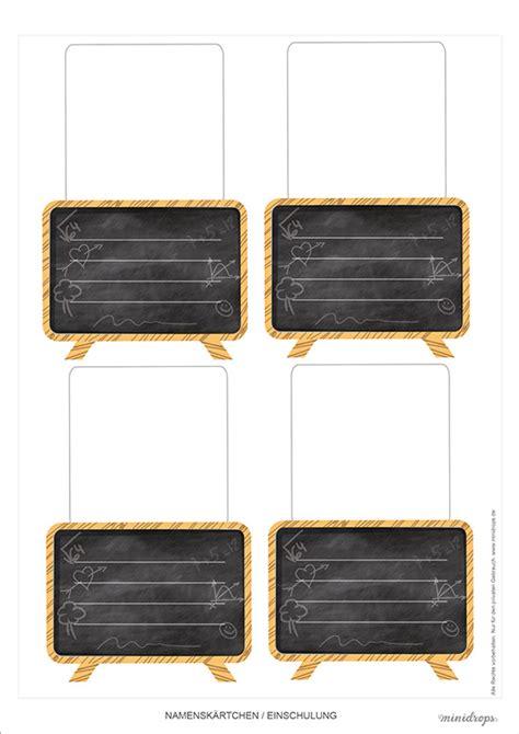 tafel tischkarten zur einschulung basteln minidrops