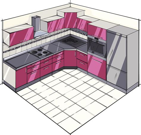 shaped kitchen plans