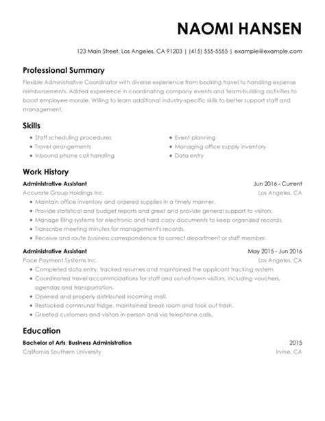 Executive Assistant Resume by Resume Exle Executive Assistant Vvengelbert Nl