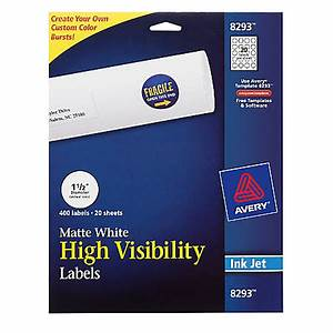 Avery permanent high visibility labels round 1 12 diameter for Half inch round labels
