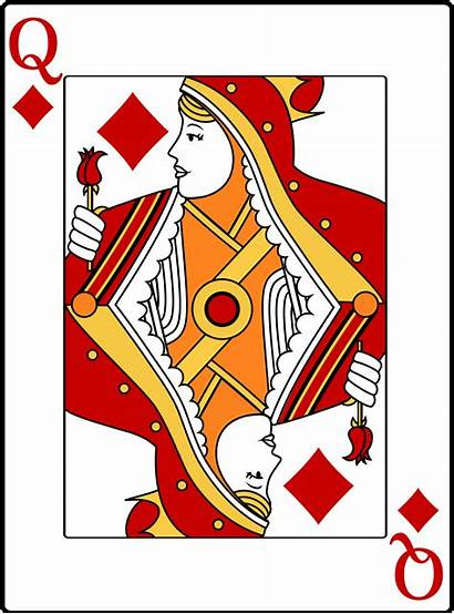Queen Hearts Clipart Vector Card Diamonds Playing