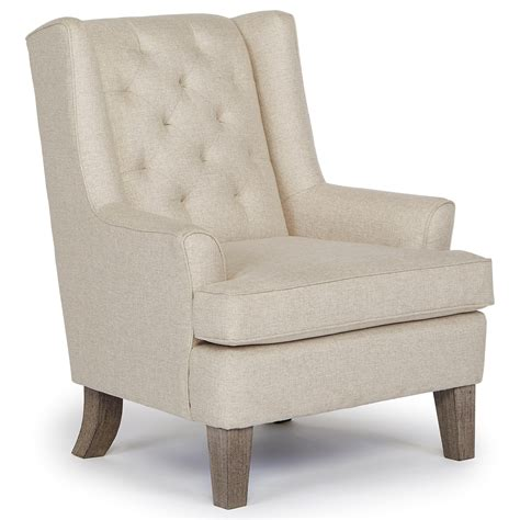Wing Chair by Wing Chair With Tufted Back By Best Home